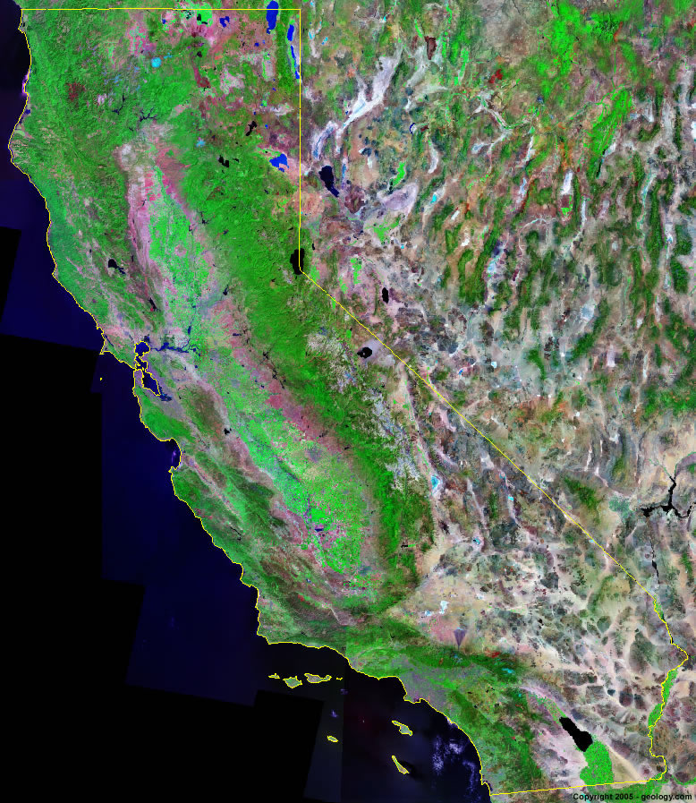 California Satellite Images Landsat Color Image - Most current satellite maps