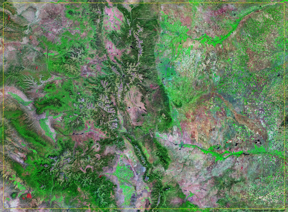 Satellite View Maps Colorado Satellite Images   Landsat Color Image
