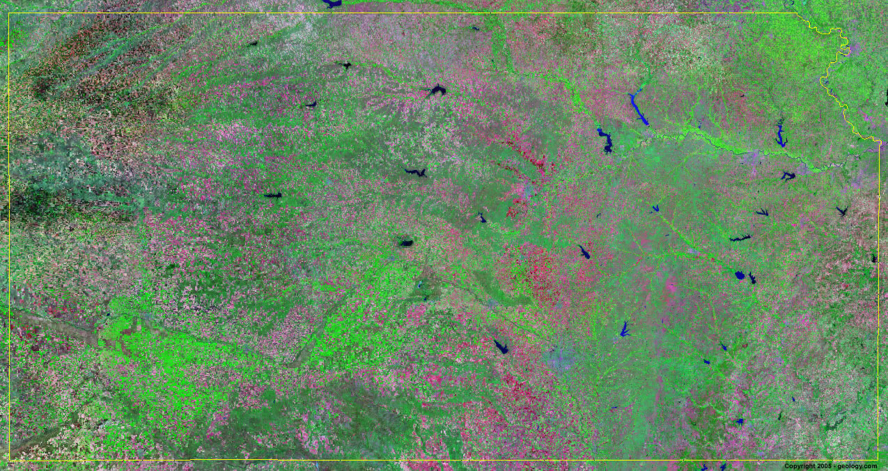 Kansas satellite photo