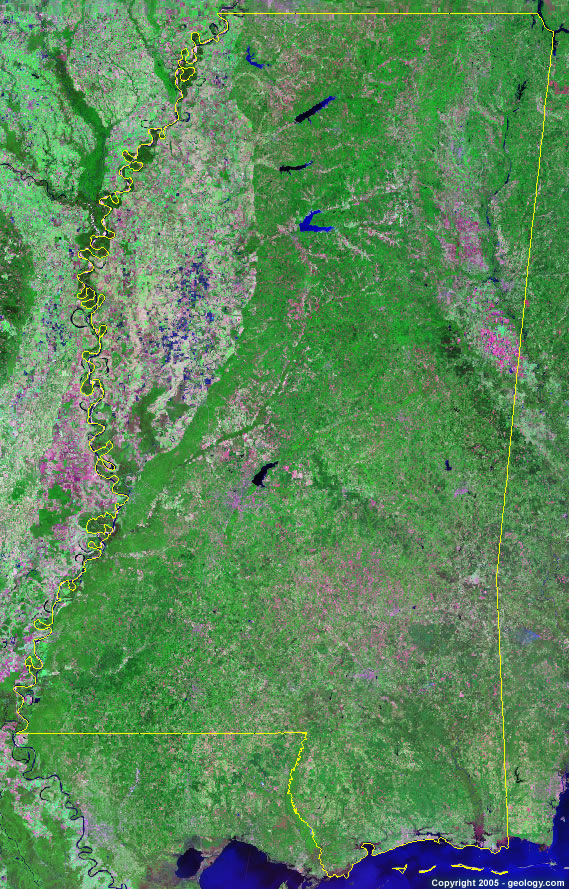 Mississippi satellite photo