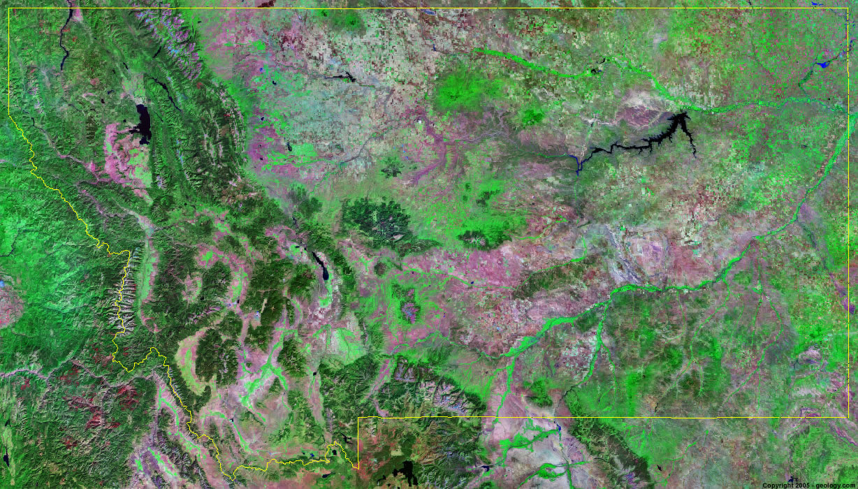 Montana satellite photo