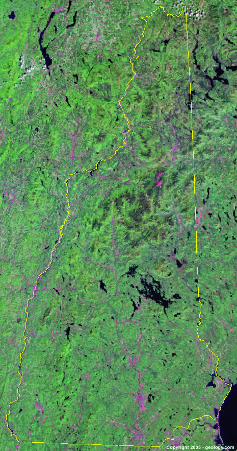 New Hampshire satellite photo