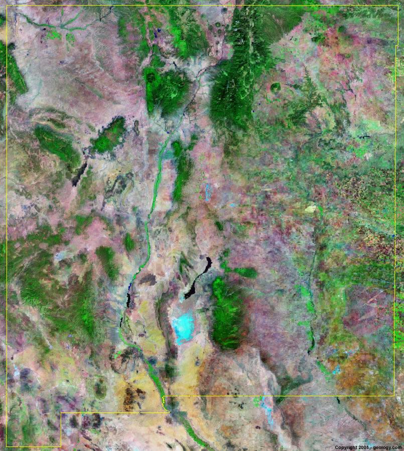 New Mexico Satellite Images - Landsat Color Image