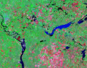 North Dakota Satellite Image