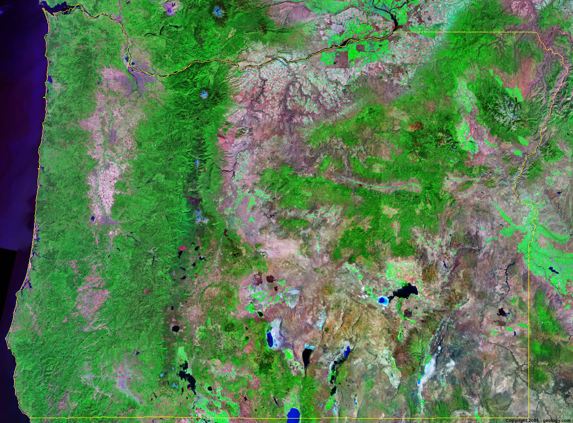 Oregon Satellite Images Landsat Color Image - Most current satellite maps