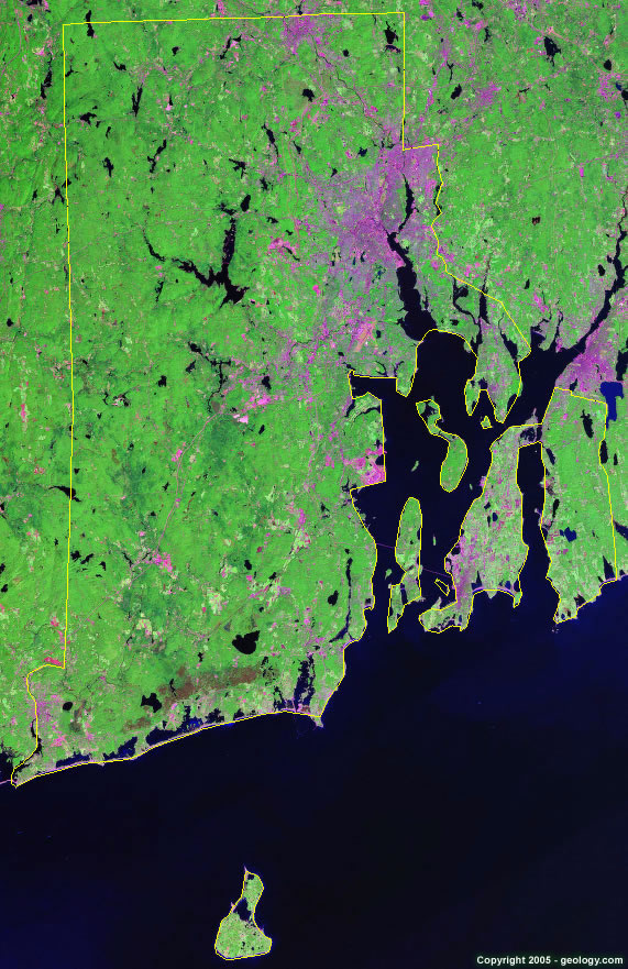 Rhode Island satellite photo