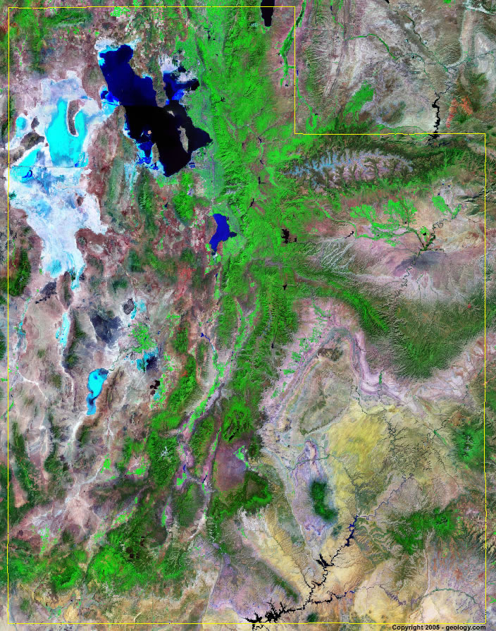Utah satellite photo