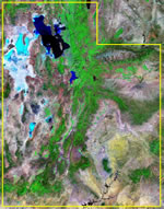 Utah satellite image