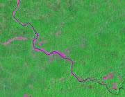 West Virginia Satellite Image