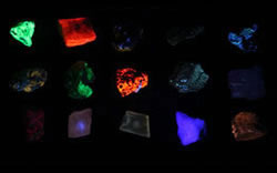 Fluorescent mineral kit