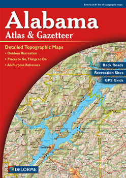Alabama DeLorme Atlas Road Maps Topography And More - Alabama road map
