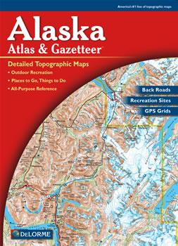 Alaska DeLorme Atlas Road Maps Topography And More - Alaska road map