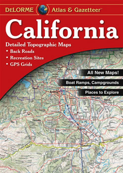 California DeLorme Atlas Road Maps Topography And More - California road map