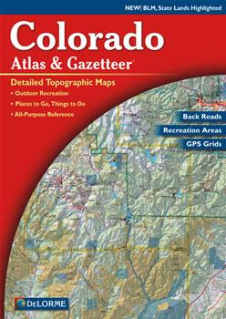 Colorado delorme atlas road maps topography and more for Colorado fishing atlas