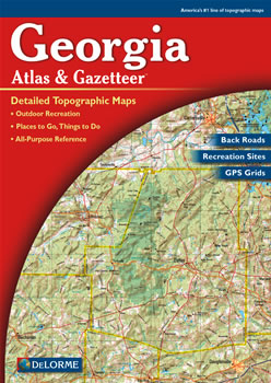 Georgia DeLorme Atlas Road Maps Topography And More - Road map georgia