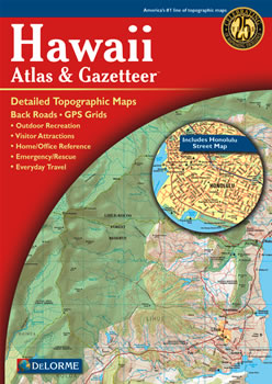 hawaii delorme atlas road maps topography