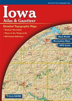Iowa DeLorme Atlas Road Maps Topography And More - Iowa road map
