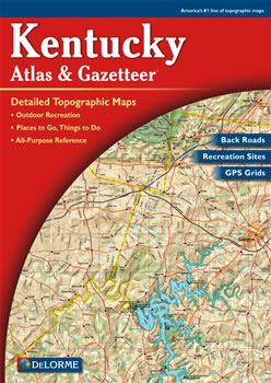 Kentucky DeLorme Atlas Road Maps Topography and More
