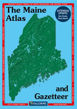 Topography Map Of Maine.Maine Delorme Atlas Road Maps Topography And More