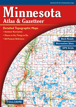 Minnesota DeLorme Atlas Road Maps Topography And More - Mn road map