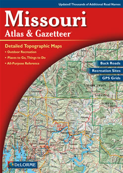Missouri DeLorme Atlas Road Maps Topography And More - Road map of missouri