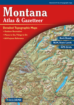Montana DeLorme Atlas Road Maps Topography And More - Road map of montana