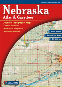 Nebraska delorme atlas road maps topography and more