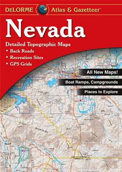 nevada delorme atlas road maps topography