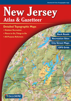 New Jersey DeLorme Atlas Road Maps Topography And More - New jersey road map