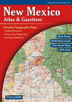 New Mexico DeLorme Atlas Road Maps Topography And More - Road map of new mexico