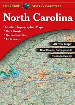 North Carolina Delorme Atlas Road Maps Topography And More