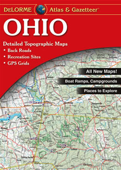 Topography Map Of Ohio.Ohio Delorme Atlas Road Maps Topography And More