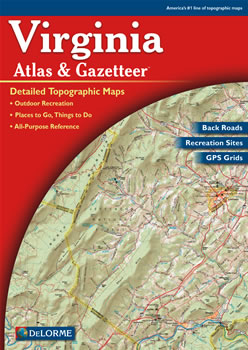 Virginia DeLorme Atlas Road Maps Topography And More - Road map virginia
