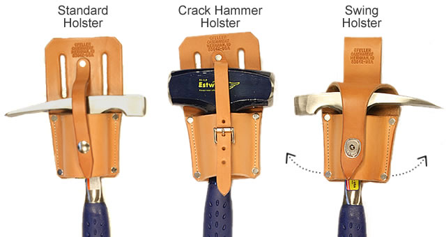 Gfeller Leather Hammer Holsters for Rock Hammers and Picks