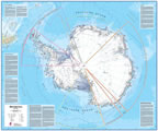 Antarctica wall map