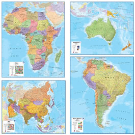 continent wall maps