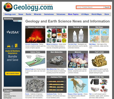 Geology.com homepage