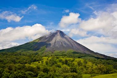Arenal Volcano Costa Rica Volcan Map Eruptions