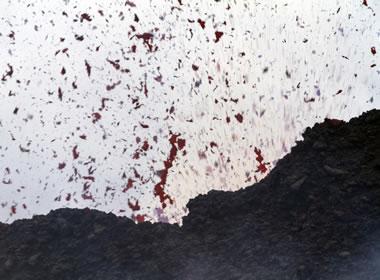 Eruption of cinders