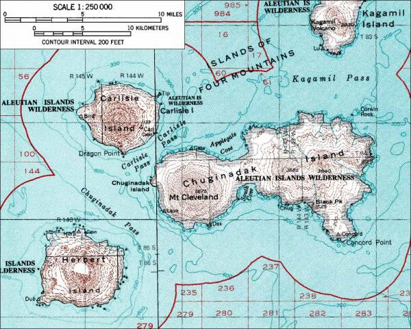 Mount Cleveland Active Volcano In Alaskas Aleutian Islands - Active volcanoes in the us map