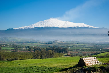 Mount Etna with snowcap