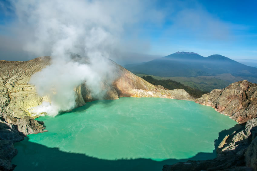 Blue Flames and the Largest Highly Acidic Lake in the World