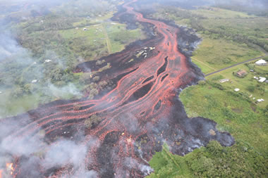 Channelized Lava Flow