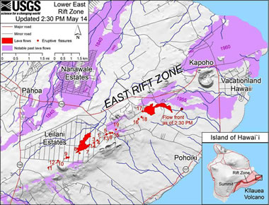 Hawaii East Rift Zone Map