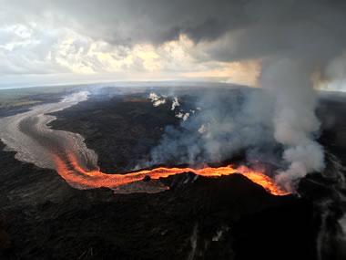 Incandescent Lava