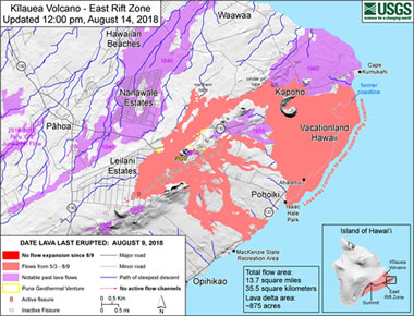 Lava Flow Map