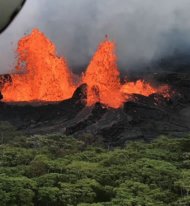 Lava Fountaining at Kilauea