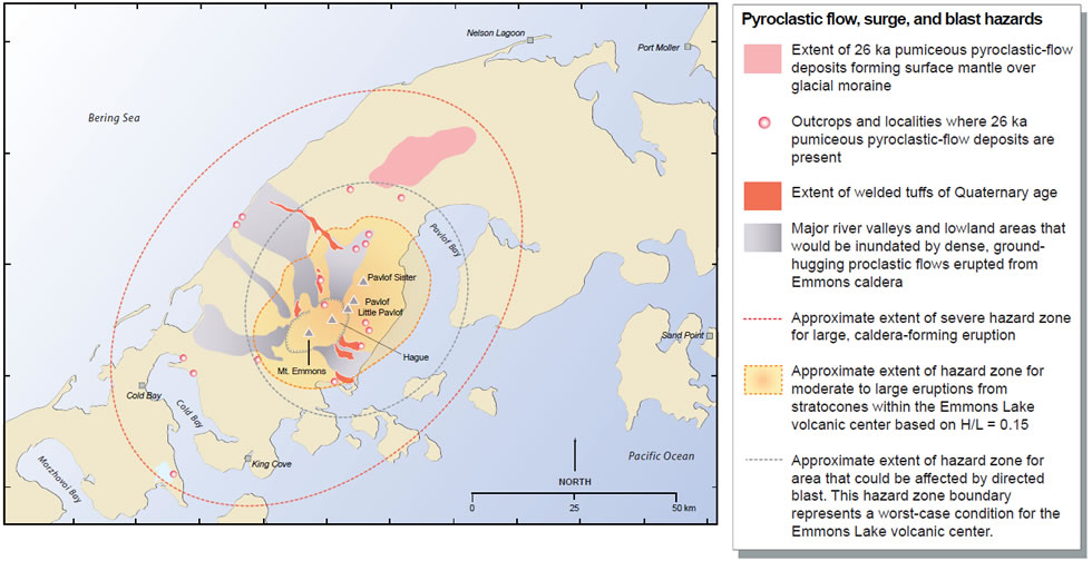 Pavlof Volcano One Of The Most Active Volcanoes In North America - Map active volcanos in us