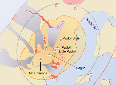 pavlof volcano one of the most active volcanoes in north america
