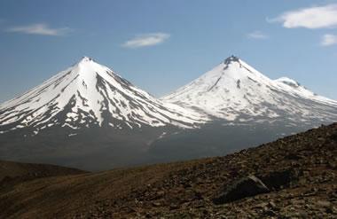 Pavlof Sister, Pavlof, Little Pavlof Volcanoes